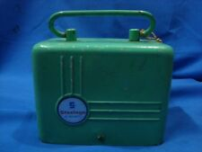 Old vintage Metal STEEL AGE Co. Money Box from India 1950
