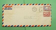 DR WHO 1962 MALAYA SINGAPORE SLOGAN CNACEL AIRMAIL TO USA  f83943