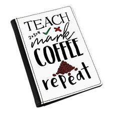 Porta Pasaporte de repetición de café marca enseñan Cubierta Estuche Billetera-Profesor Regalo Divertido