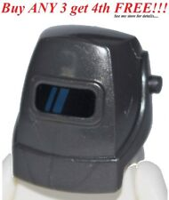 ☀️NEW Lego Minifig Hat Dark GRAY Welding Welders Mask Helmet