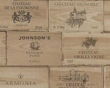 Brown Wooden Crates Wallpaper Vintage Retro Wine Box Wooden Textured Vinyl