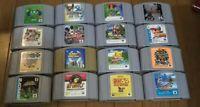 Nintendo 64 Game bundle lot of 16 games Cartridge Zelda, Donkey Kong Mario Party