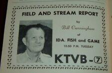 1965 UTAH TV GUIDE ~CAPTAIN SCOTTY & JIMINY 4~BILL CUNNINGHAM IDAHO FISH & GAME