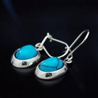 Türkis Silber 925 Ohrringe Damen Schmuck Sterlingsilber H251