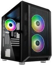 Kolink Citadel Mesh RGB Micro-atx Gaming Cube Case 2x LED Fans Tempered Glass