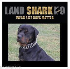 Large Black & Natural Suede Leather Studded Dog Collar (Staffy)