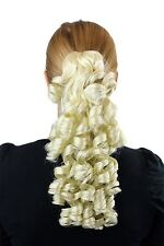 hairpiece plait Platinum Blonde approx. 35cm Spiral Shape Curls Extension