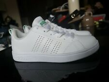 KIDS ADIDAS NEO BASELINE COMFORT FOOTBED SNEAKERS Size 12K White/Green New