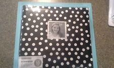 K & company Black & white dots w/ frame scrapbook album 12x12 postbound 10 pages