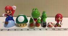 Mario Kart Nintendo Sega Sonic Knuckles Collectibles Figures Toy Lot of 6