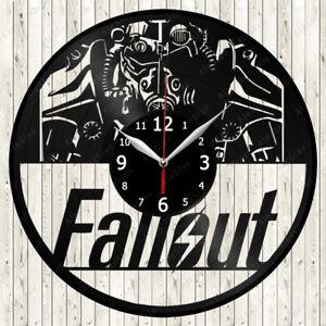 FallOut Vinyl Record Wall Clock Decor Handmade 2021