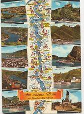 Am Schoenen Rhein von Ruedesheim bis Koblenz Germany 1981 Postcard 072a