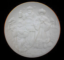 1994 Lenox Nativity Vignettes The Wise Man Plate, White Bisque, Mint