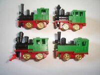 GREEN STEAM ENGINES MODEL TRAINS SET 1993 1:160 N - KINDER SURPRISE LOCOMOTIVES