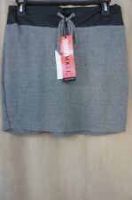 Teen Vogue for MstyleLab Juniors Skirt Sz L Black Grey Lightweight Jersey Knit
