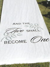 """White or Black """"And The Two Shall Become One"""" Wedding Aisle Runner"""