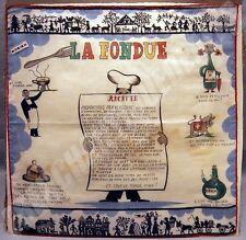 AFFICHE imprimée TISSU publicitaire FONDUE KREIER  1920