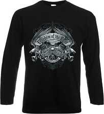 Longsleeve/Langarmshirt schwarz Biker Chopper HD&VTwinmodell Freedom of the Road