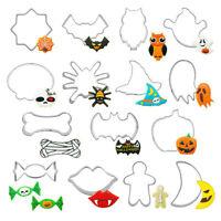 15Pcs Halloween Cookie Cutter Chocolate Mold Pumpkin Ghost Spider Fondant Tool