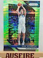NBA Dirk Nowitzki Dallas Mavericks 2018-19 Panini Green Prizm Card #2 13/25
