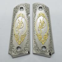 Custom Kimber 1911 Grips - Full Size - Government - Commander - Nickel gold