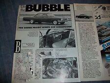 "1962 Chevy Bel Air Bubble Top Vintage Article ""On the Bubble"" Impala"