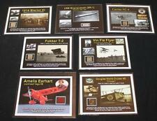 Authentic Fragments of 7 Historic Aircraft on COAs - Earhart, Wright, Bleriot