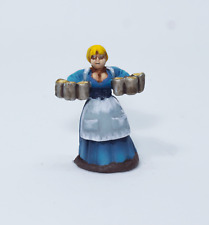 Painted Miniature Townsfolk  Woman, Pathfinder Rpg, DnD, Reaper Bones