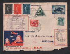 South Africa 1938 KLM Airmail flown cover Voortrekker Amsterdam-Pretoria WS13268