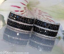 Klassisch: Edle schwarze & weiße Diamanten Ohrstecker, 2,53 cts. WG-585, 4.100€