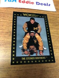 1991 WCW WRESTLING CARD THE STEINER BROTHERS CARD 6 CHAMPIONSHIP MARKETING NWA