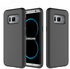 Samsung Galaxy S8 Shockproof Dual Layer  2 in 1 TPU+PC Hard Armor Case BLACK