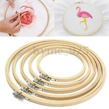 5pcs Embroidery Hoop Bamboo Circle Sewing Wood Cross Stitch 13 17 21 24 27cm