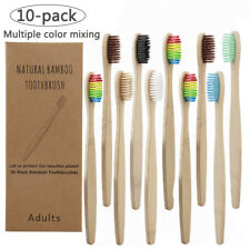 10PCS Bamboo Toothbrush Environmentally Friendly Eco Soft Bristles Oral Care