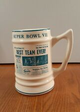 1973 Super Bowl VII Mug W.C.Bunting Pottery East Liverpool Ohio 17-0 Dolphins