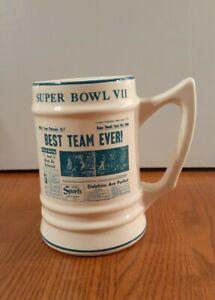 1973 Super Bowl VII Mug W.C.Bunting Pottery East Liverpool Ohio 17-0 Dolphins
