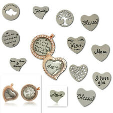 Personality Stainless Steel Plate for 30mm Glass Living Memory Floating Locket