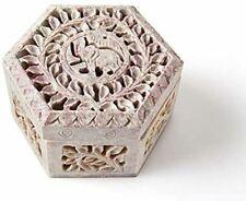 Indian Handmade Jewelry Box For Girls & Women's Stone Art Jewel Storage Case