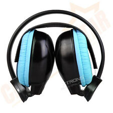 Children Kids Wireless IR Infrared Car Stereo Headphones Headset Blue 2 Channels