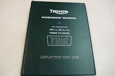 TRIUMPH TRIDENT T150 GENUINE WORKSHOP MANUAL ALL MODELS 1969-74 INCLUDES  T150V