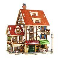 1/24 Miniature Dollhouse Kit Detachable Building Model - 3D Villa Ornament