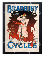 Historic Bradbury Cycles 1900 Advertising Postcard