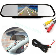 5'' TFT LCD 800*480 Car Rear View Mirror Monitor For Parking Reverse Camera
