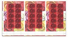 Australia 2006 Roses Cancelled to Order CTO Gummed Stamps Uncut of 3 Sheetlets