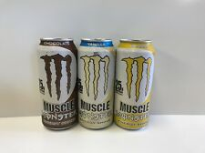 Monster Muscle Energy Shake 15 Fl Oz Each. Total 3 Cans. 1 Of Each Kind