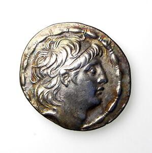 **SELEUKID EMPIRE Antiochos VII Euergetes 138-129BC Silver Tetradrachm ** OG969E