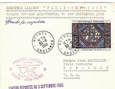 ENVELOPPE PREMIERE LIAISON AIR-FRANCE - PARIS - NEW -YORK - BOEING 707-320 -1965