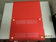 """HARD CASE SHELL & KEYBOARD COVER FOR MACBOOK LAPTOP, RED, 12"""", NEW NWOT"""