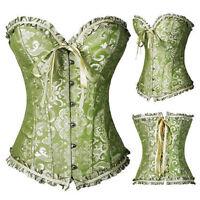 WomeN Waist Training Cincher Corset Top Burlesque Costume Bustier Vintage Shaper