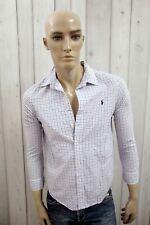 RALPH LAUREN Camicia Uomo Shirt Casual Cotone Manica Lunga Chemise Taglia XS